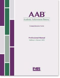 AAB- ACADEMIC ACHIEVEMENT BATTERY (2014) - Comprehensive Form Print Kit, Product Range