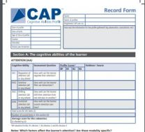 Cognitive Abilities Profile - Record Forms