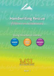 handwriting rescue follow on bookm 1