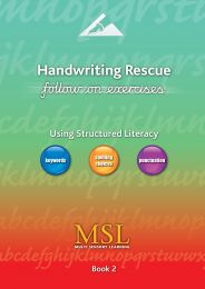 handwriting rescue follow on book 2