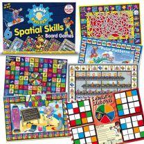 SKBBBGSS- 6 Brain Builder Board Games - Spatial Skills