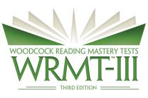 WRMT3 - Product Range, Woodcock Reading Mastery Test, Third Edition